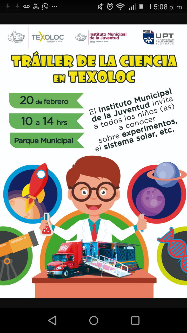 Tráiler de la Ciencia llegará a Texoloc