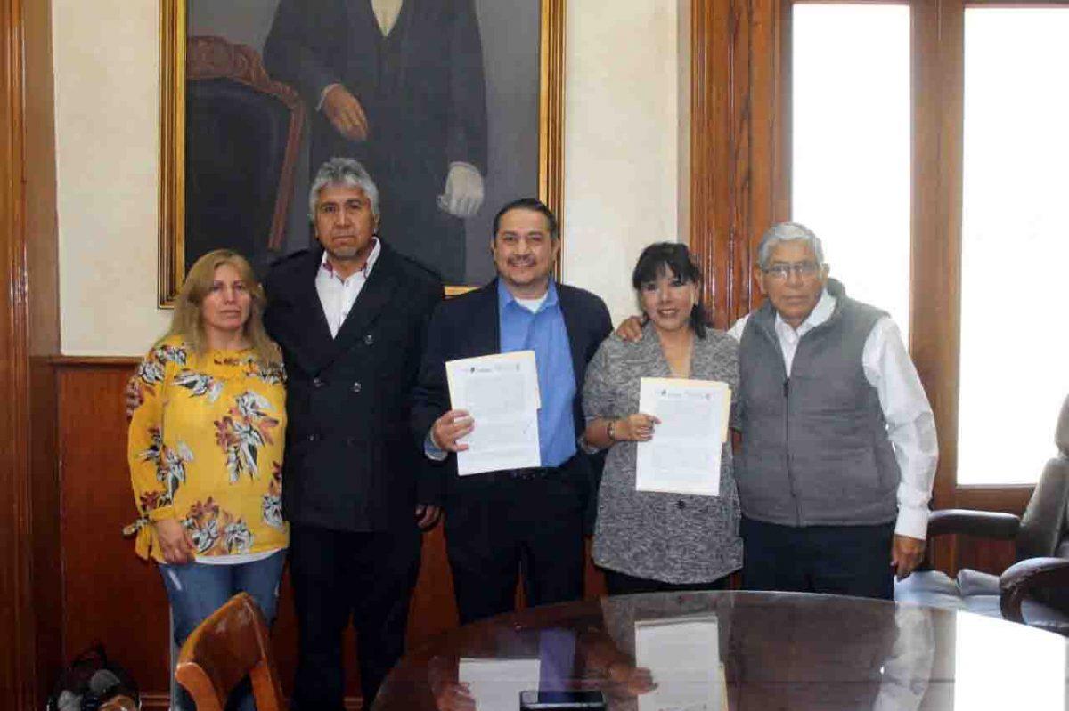 Signan convenio de colaboración ayuntamiento de Tlaxcala y Sntissste