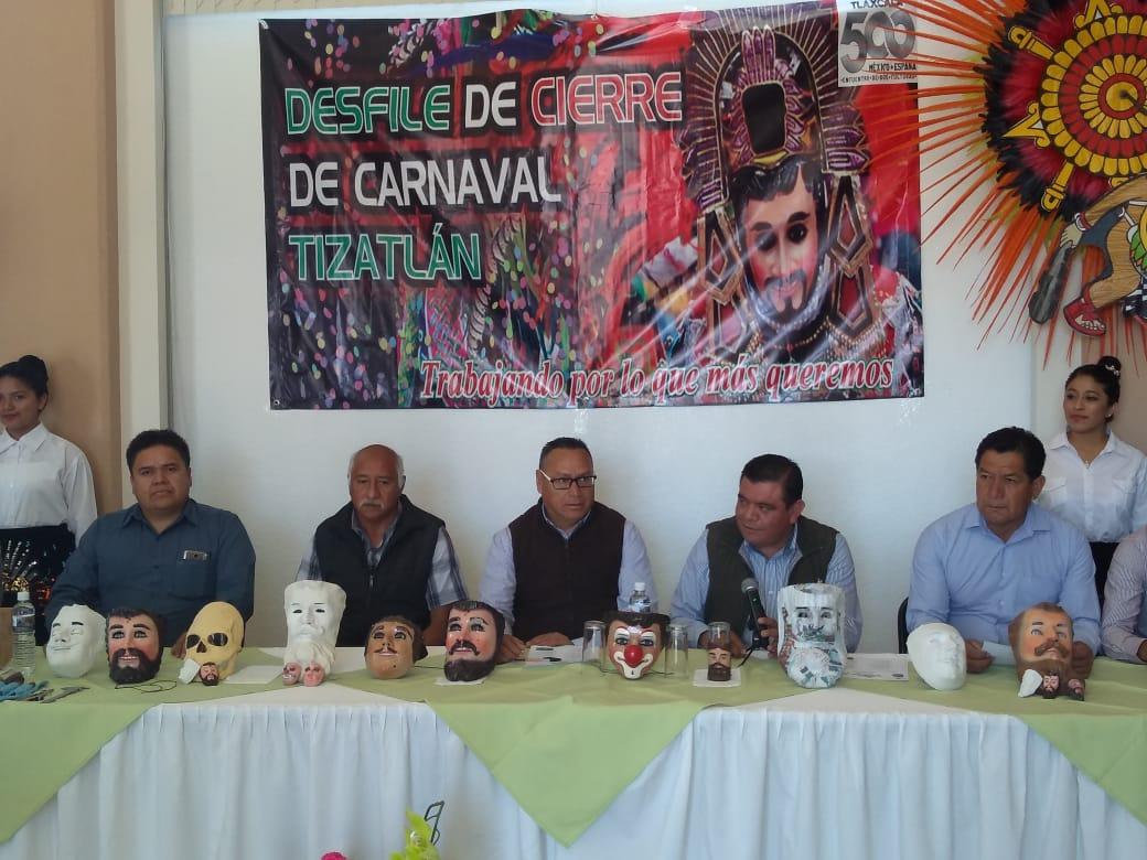 Invita comunidad de Tizatlán al desfile de cierre de Carnaval 2019