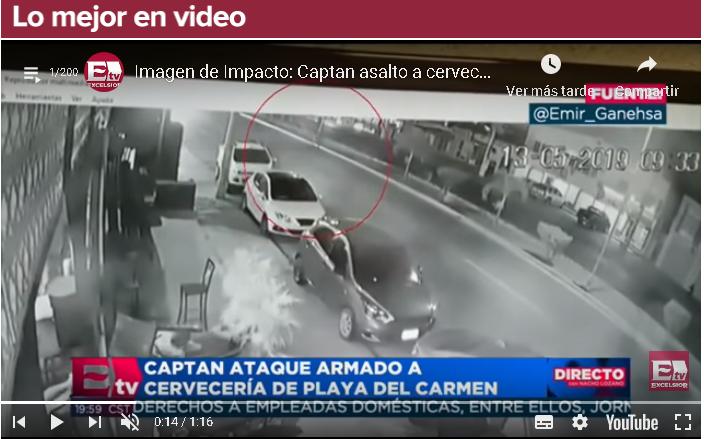Imagen de Impacto: Captan asalto a cervecería en Playa del Carmen
