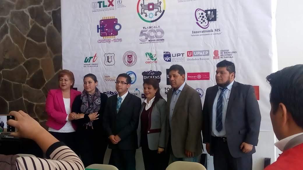 Con el apoyo del Gobierno del Estado, Patronato de la feria y el Instituto de la Juventud de Tlaxcala se presentaron las actividades de la Olimpiada Mexicana Tecnología 2019