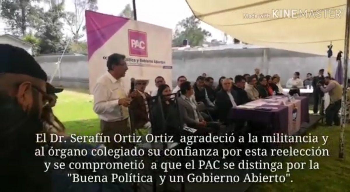 El Dr. Serafín Ortiz Ortiz es reelecto como presidente del comité estatal del PAC