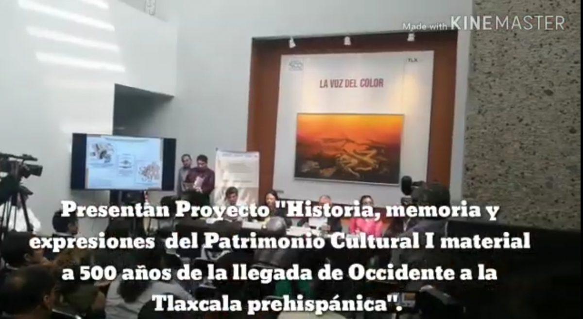 Presentaron Proyecto en el marco de la Conmemoración de Tlaxcala 500 años.