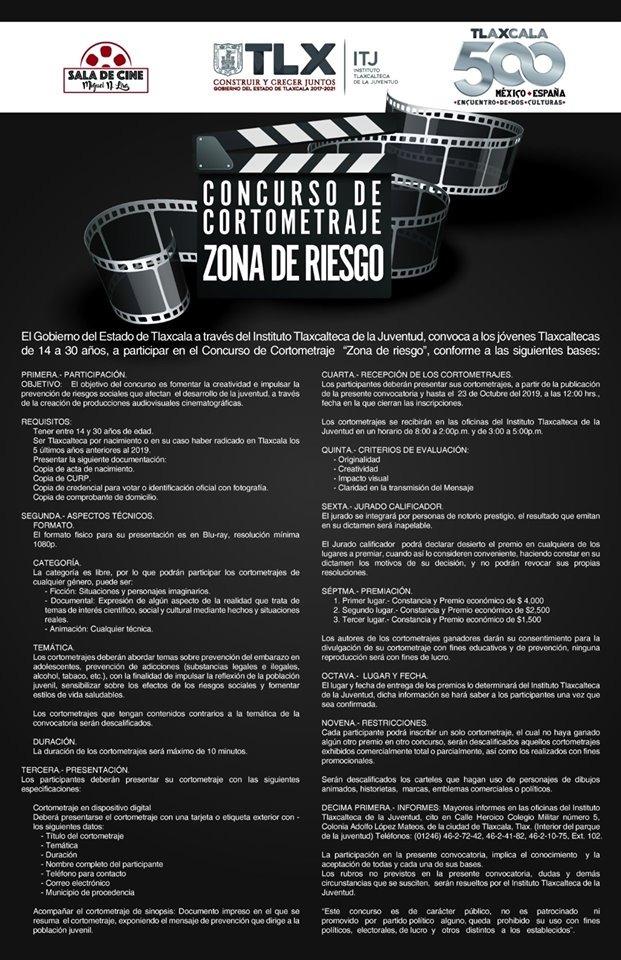 IMPULSA ITJ PREVENCIÓN DE RIESGOS ENTRE  JÓVENES CON CONCURSO DE CORTOMETRAJE