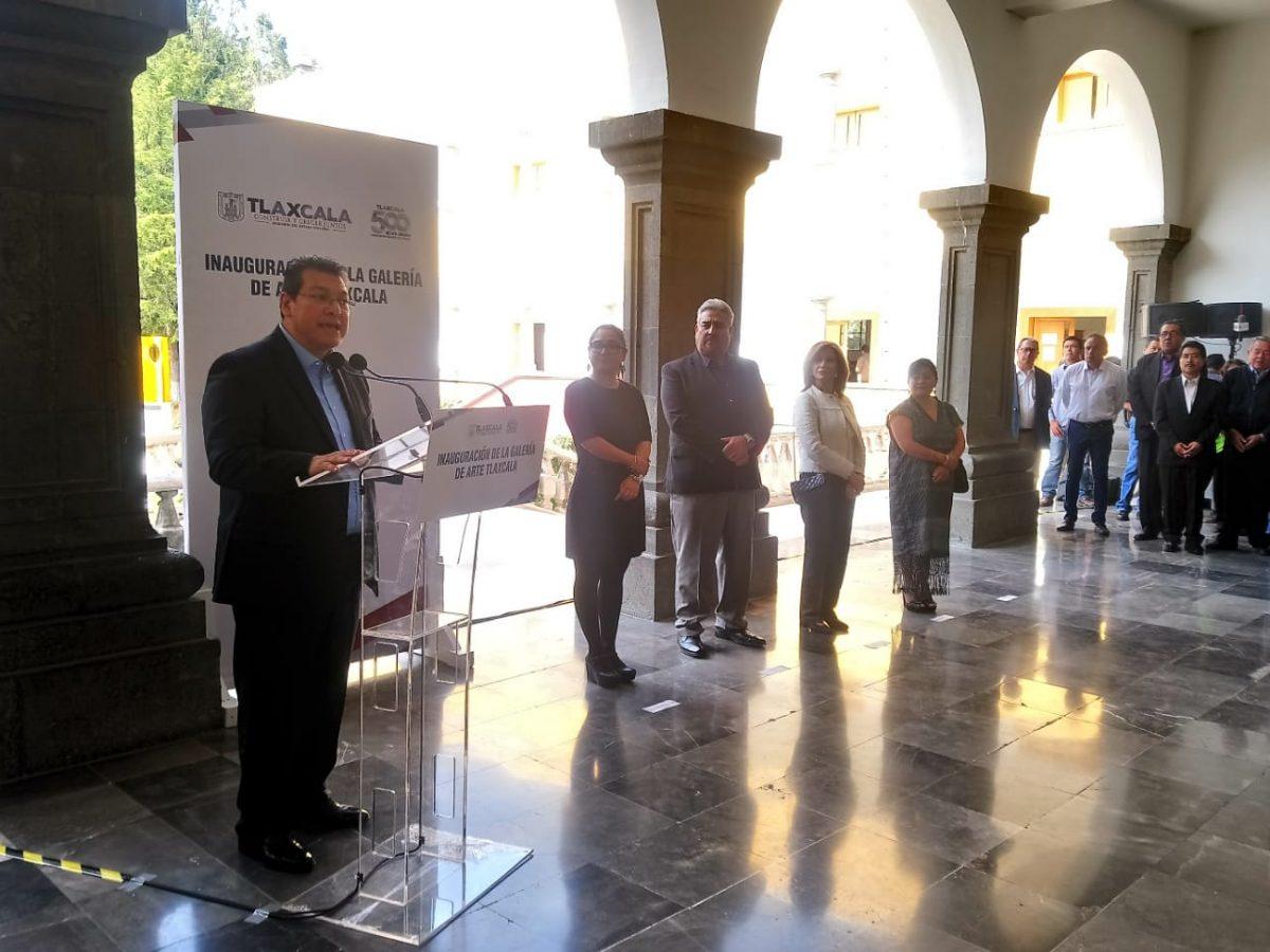 Inaugura el gobernador del estado, Marco Mena la Galería de Arte Tlaxcala. Aquí todos los detalles.