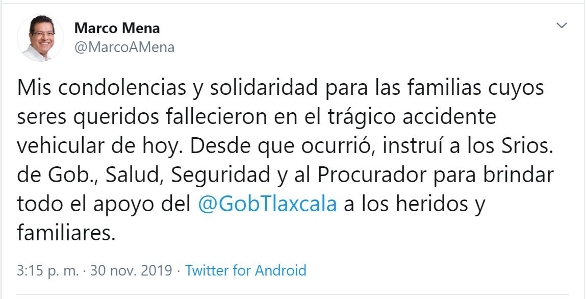 RESPALDA GOBIERNO DEL ESTADO A FAMILIARES  DE FALLECIDOS EN ACCIDENTE VEHICULAR