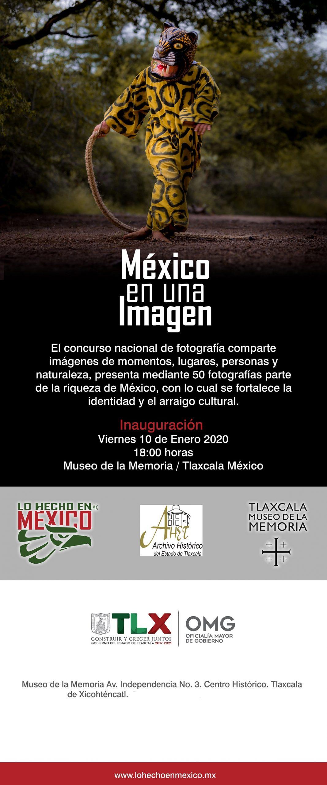 """INVITA MUSEO DE LA MEMORIA A EXPOSICIÓN """"MÉXICO EN UNA IMAGEN"""""""