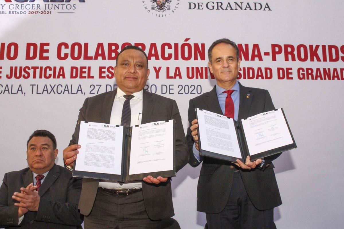 """FIRMA CONVENIO PGJE Y UNIVERSIDAD DE GRANADA, ESPAÑA PARA IMPLEMENTAR PROGRAMA """"DNA-PROKIDS"""