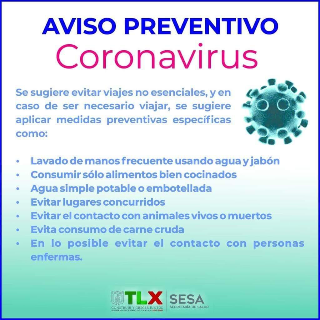 Aviso  preventivo Coronavirus