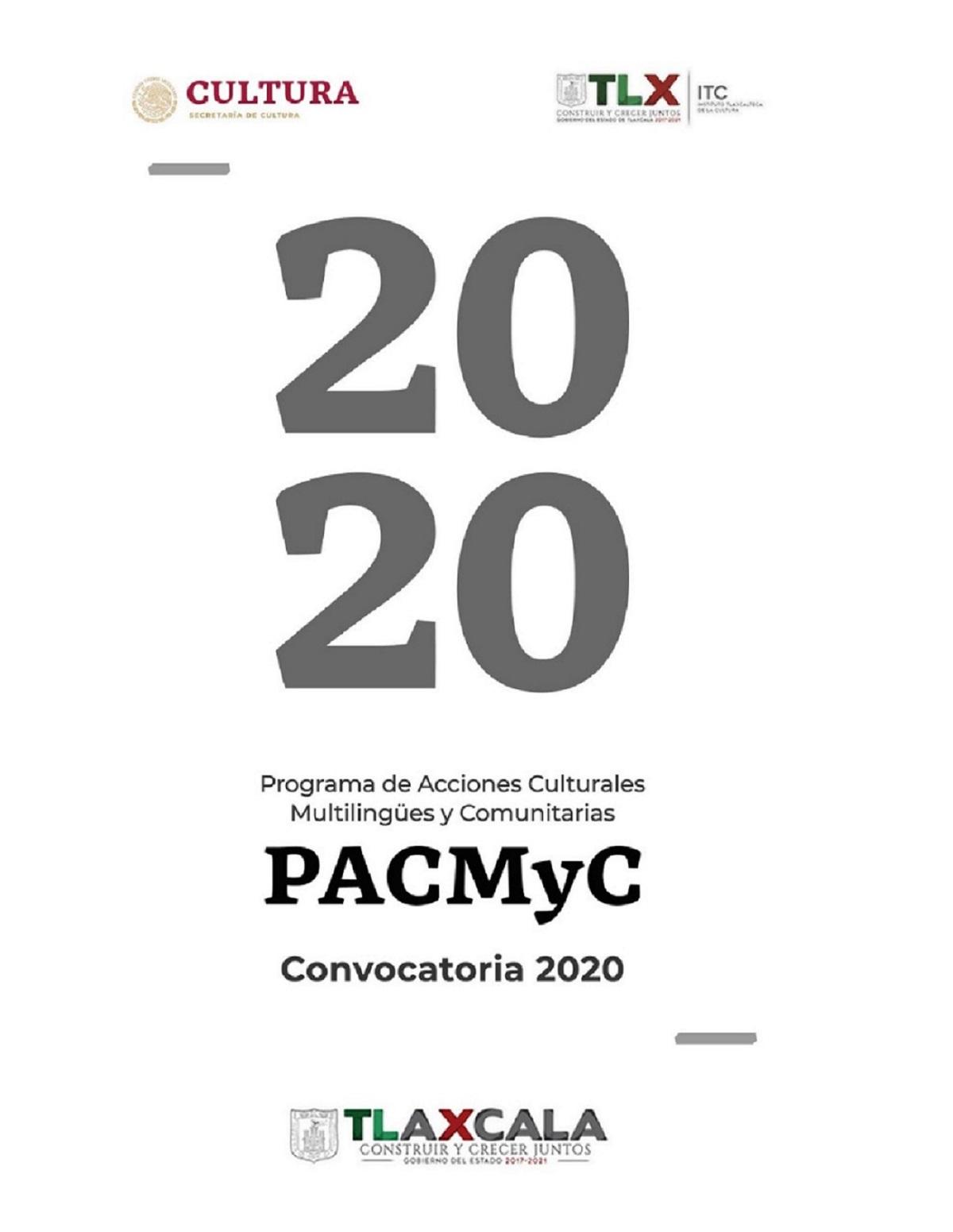 ABRE ITC CONVOCATORIA PACMYC 2020