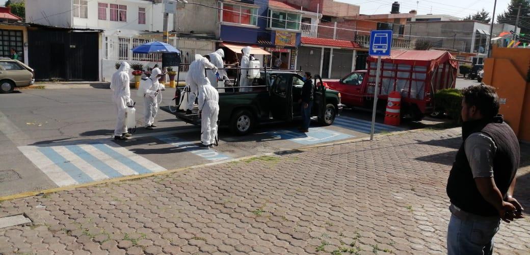 Continúan en la capital con acciones de Sanitización en espacios públicos