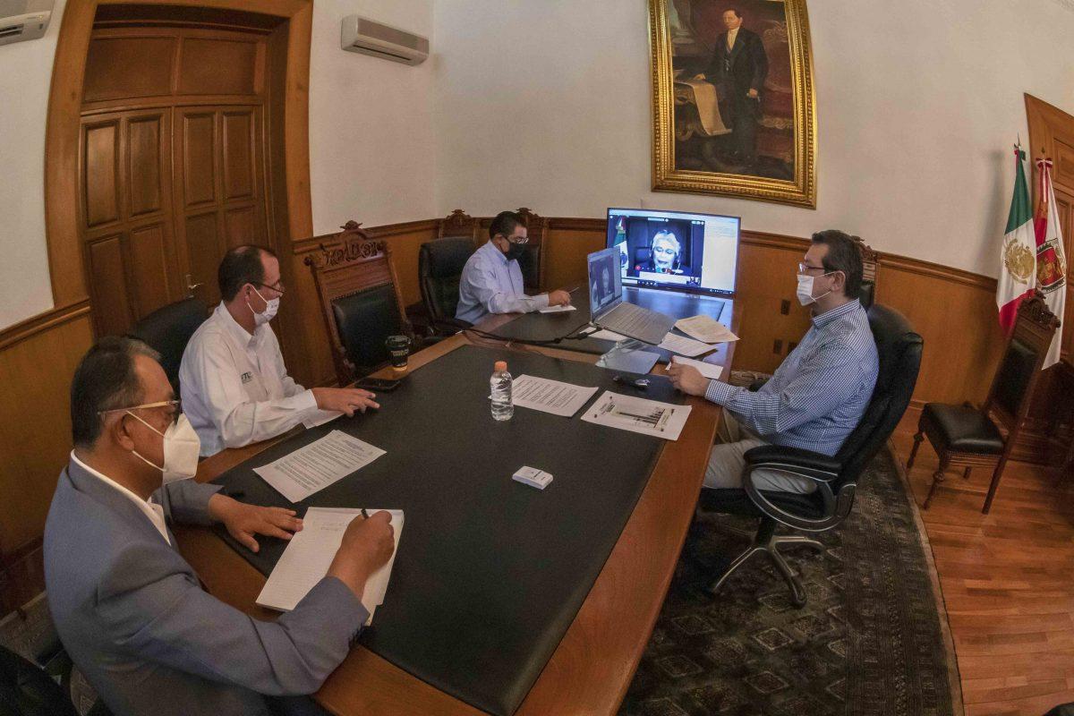MARCO MENA PARTICIPA EN VIDEOCONFERENCIA DE LA  CONAGO CON AUTORIDADES DEL GOBIERNO FEDERAL