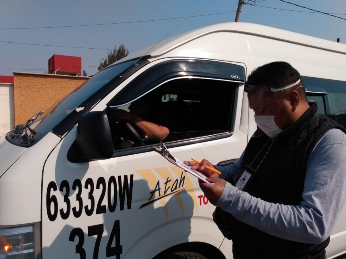 MANTIENE SECTE VIGILANCIA PARA REFORZAR USO OBLIGATORIO  DE CUBREBOCAS EN EL TRANSPORTE PÚBLICO