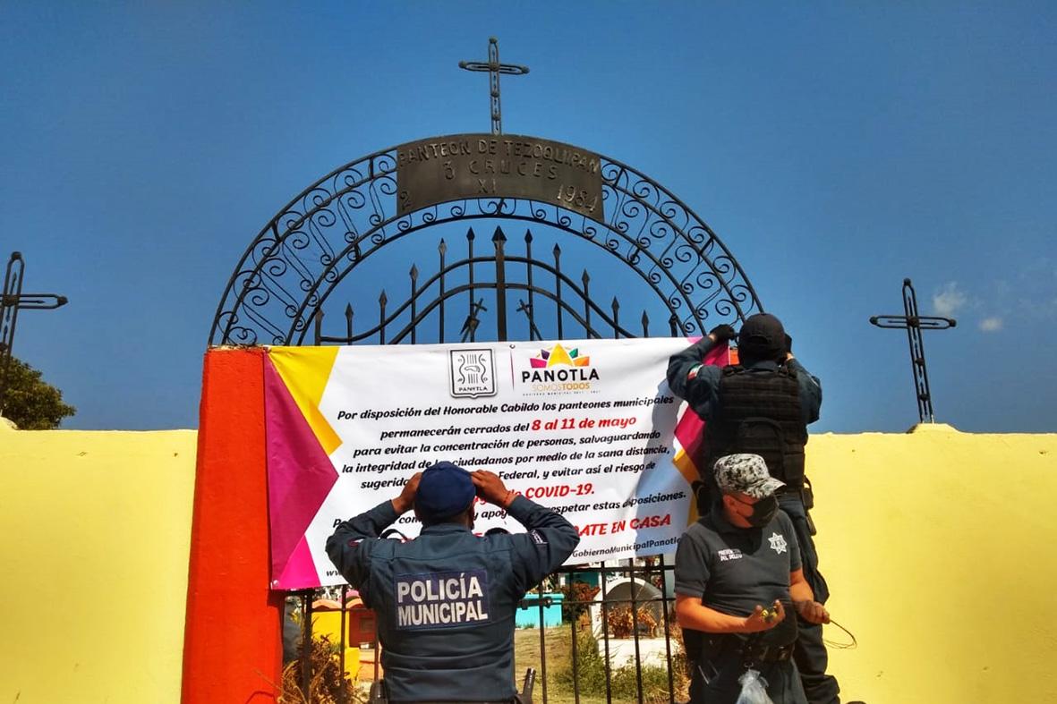 Gobierno municipal de Panotla cierra panteones por pandemia