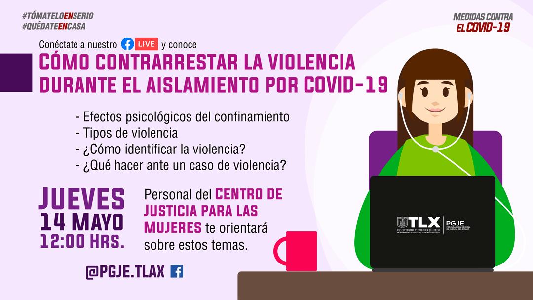 EL CENTRO DE JUSTICIA PARA LAS MUJERES ORIENTARÁ EN LÍNEA A VÍCTIMAS DE VIOLENCIA POR CONFINAMIENTO