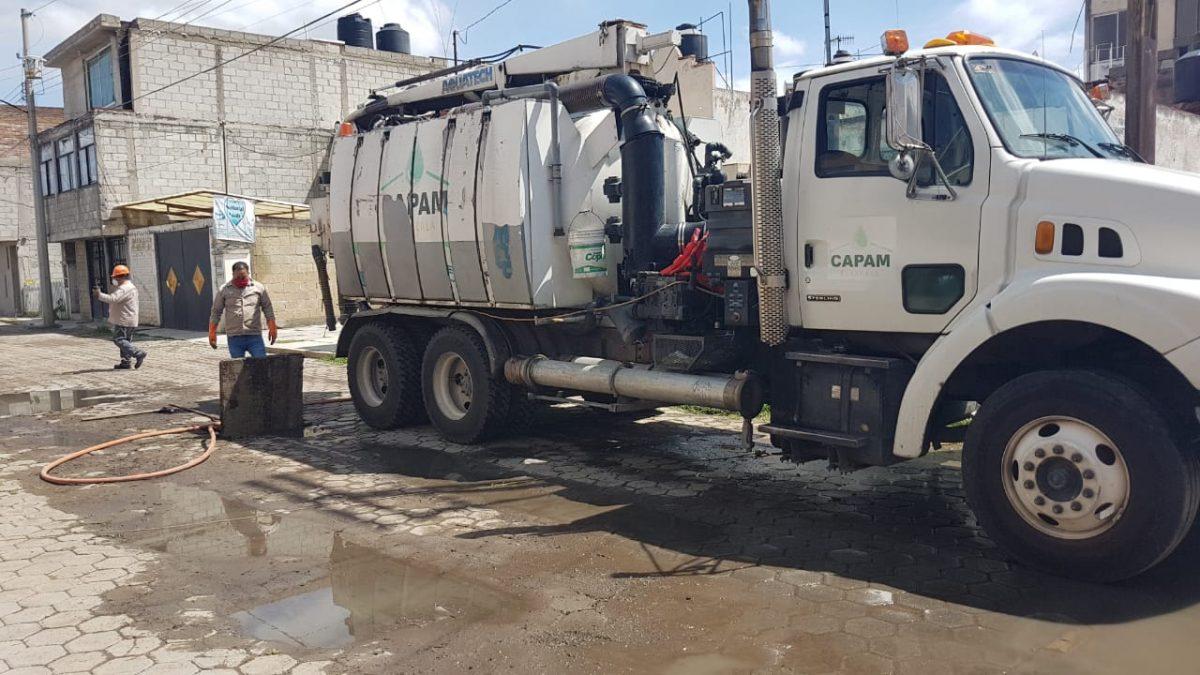 Ayuntamiento de Tlaxcala refuerza limpieza de alcantarillas y drenaje