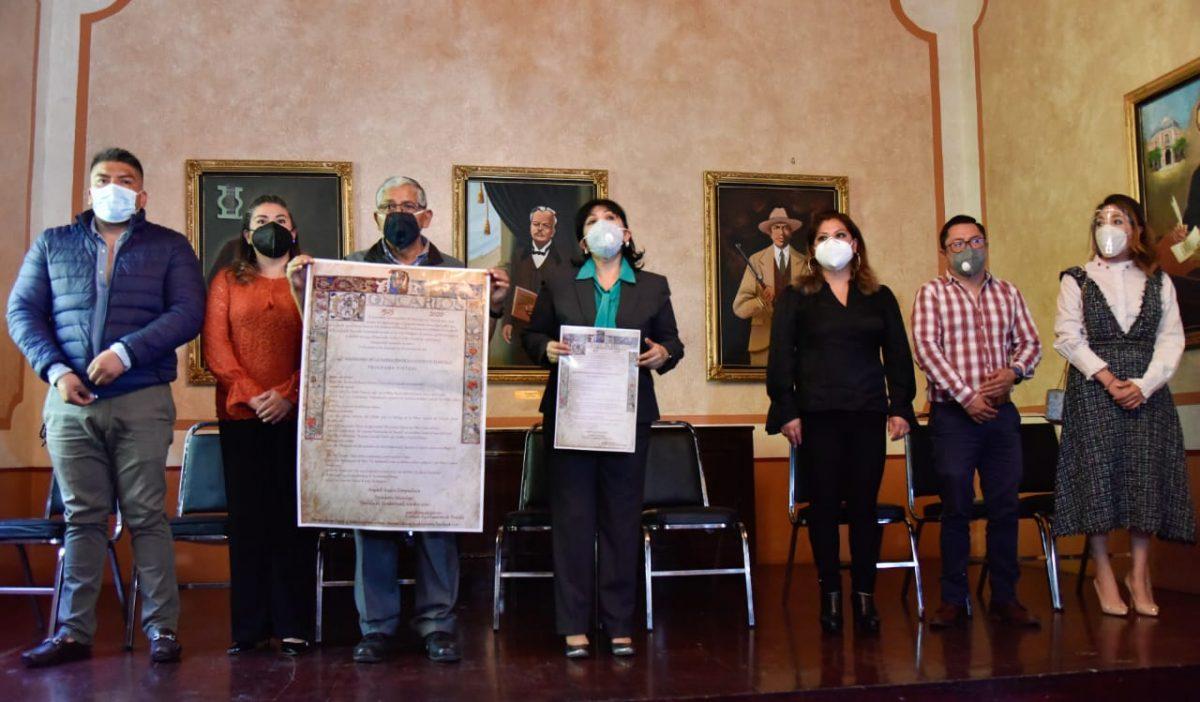 Presenta Anabell Ávalos programa del 495 Aniversario de la Ciudad de Tlaxcala