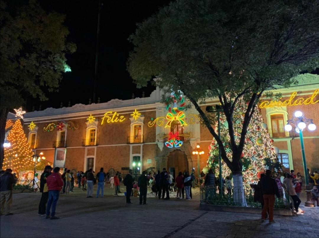 Llego la Navidad al Centro Histórico de la Capital de Tlaxcala
