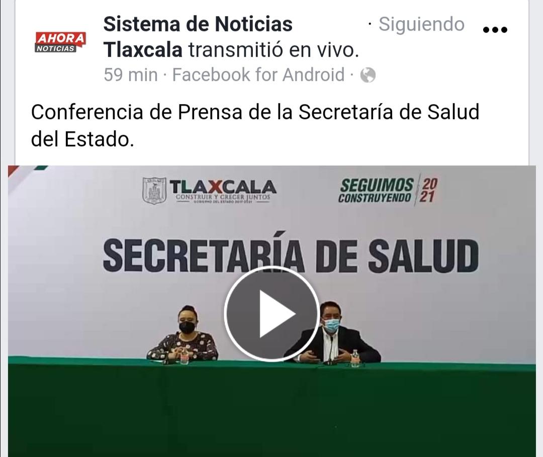 Conferencia de prensa secretaría de salud