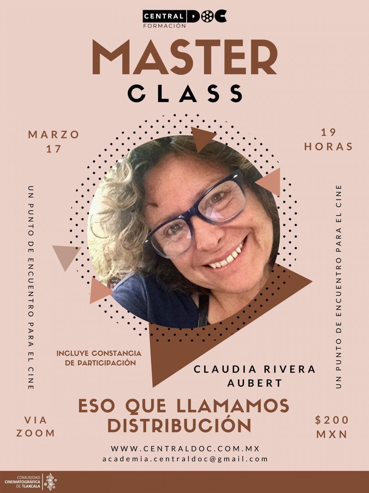 Claudia Rivera en Central-Doc para hablar sobre la importancia de la Distribución Cinematográfica