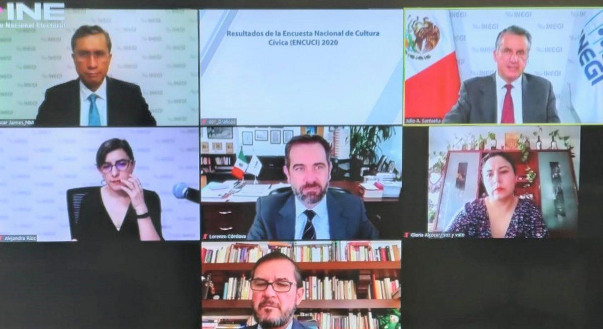 Presentan INEGI y el INE los resultados de la Encuesta Nacional de Cultura Cívica (ENCUCI) 2020