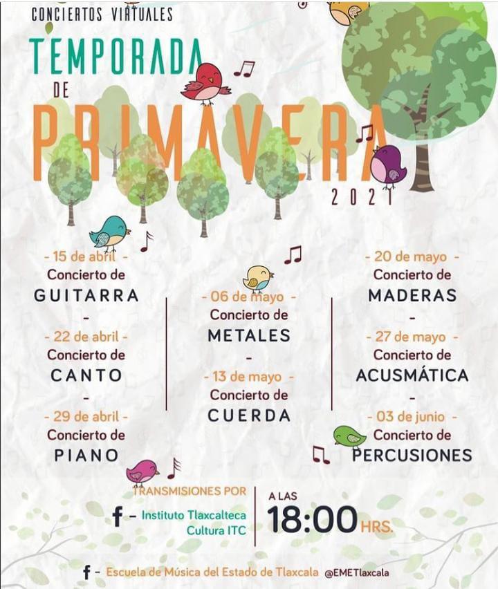 PRESENTA ITC TEMPORADA DE CONCIERTOS  VIRTUALES PRIMAVERA 2021