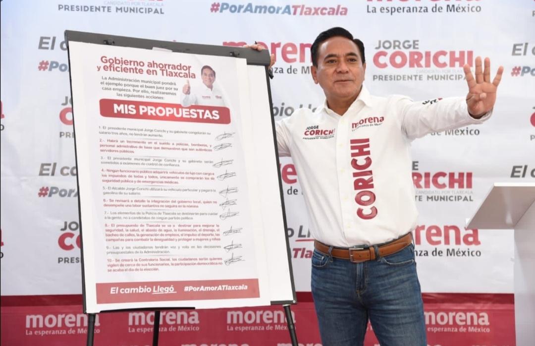 El candidato a la alcaldía de la capital por el partido Morena, Jorge Corichi anunció un conjunto de medidas que pondrá en práctica en su gobierno.