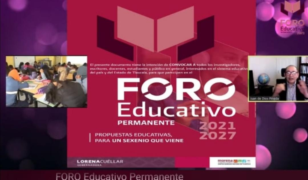 Trabaja Lorena Cuéllar con Foro para consolidar educación de calidad en Tlaxcala