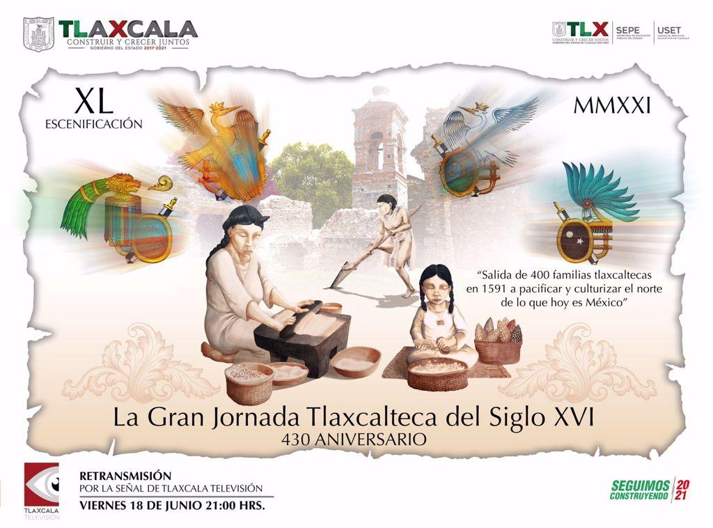 RETRASMITIRÁN ESCENIFICACIÓN DE  LA GRAN JORNADA TLAXCALTECA DEL SIGLO XVI