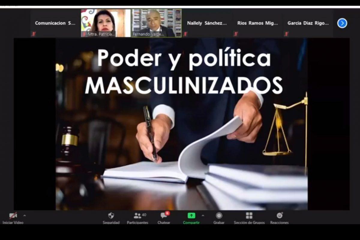 """El poder y la política fueron históricamente masculinizados"""": Valdez Zainos"""