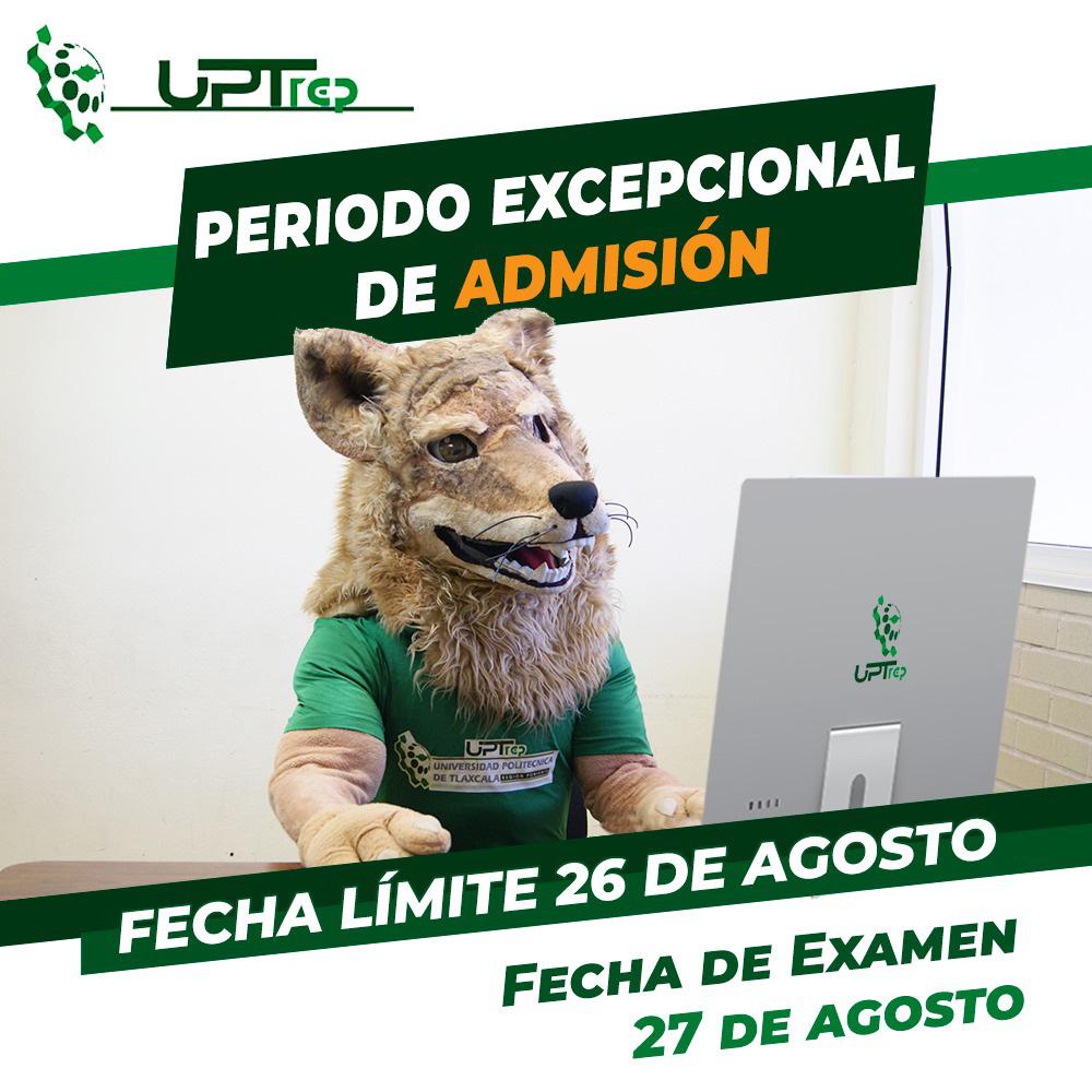 ANUNCIA UPTREP PERIODO EXTRAORDINARIO DE ADMISIÓN