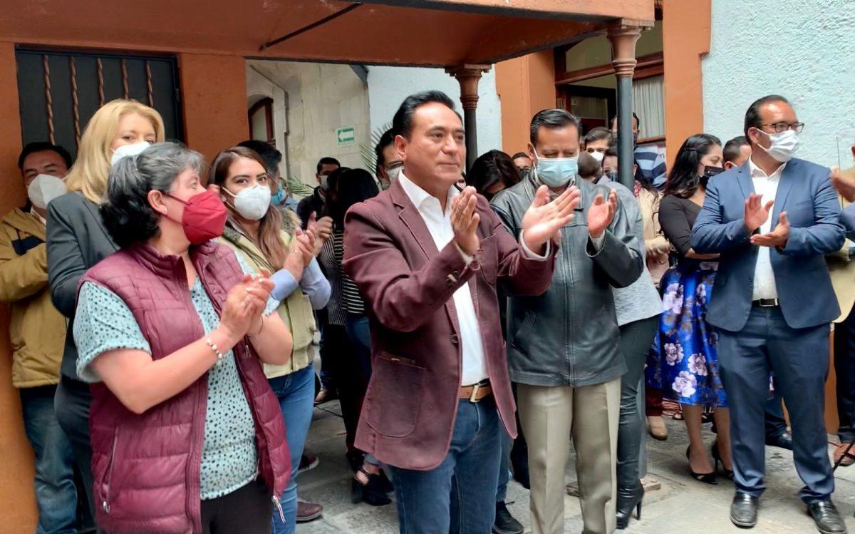 Jorge Corichi suma esfuerzos con trabajadores del Ayuntamiento de Tlaxcala