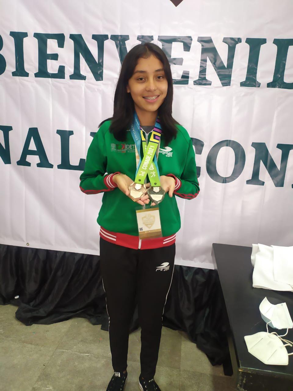 Erin Huerta, doble medallista en el ajedrez de Juegos Nacionales Conade 2021
