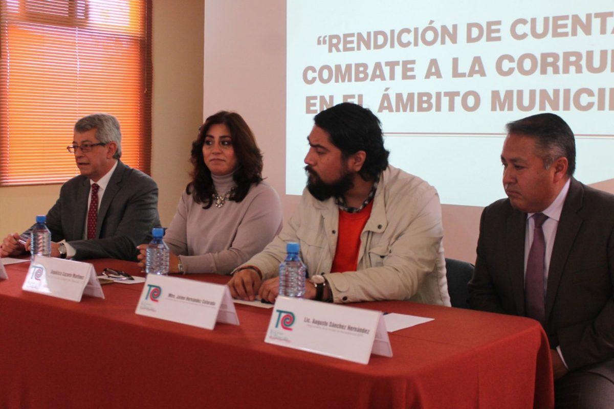 """PRESENTA COLTLAX CONFERENCIA """"RENDICIÓN DE CUENTAS Y COMBATE A LA CORRUPCIÓN EN EL ÁMBITO MUNICIPAL"""""""