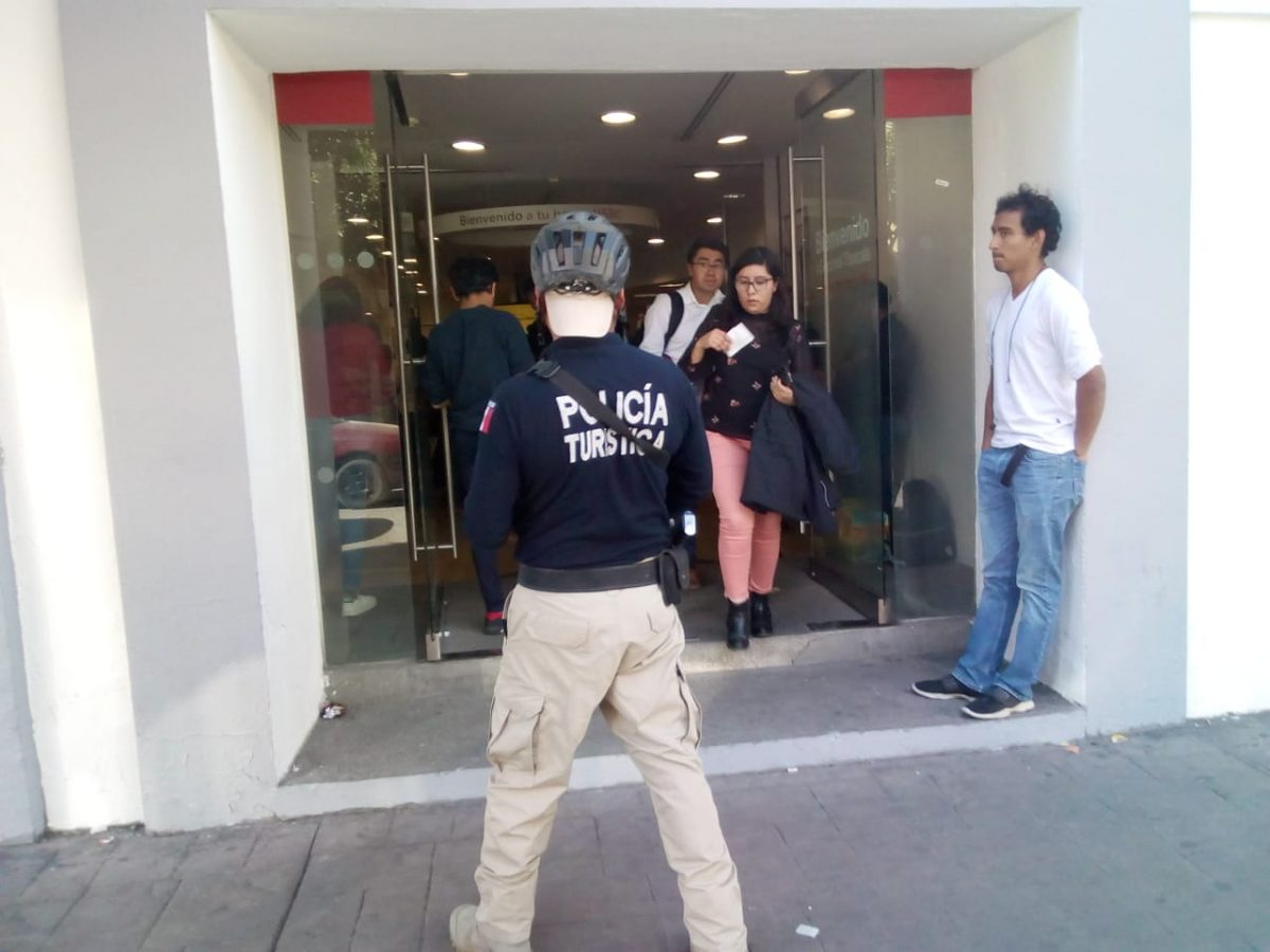 Garantiza policía capitalina seguridad en sucursales bancarias y cajeros automáticos