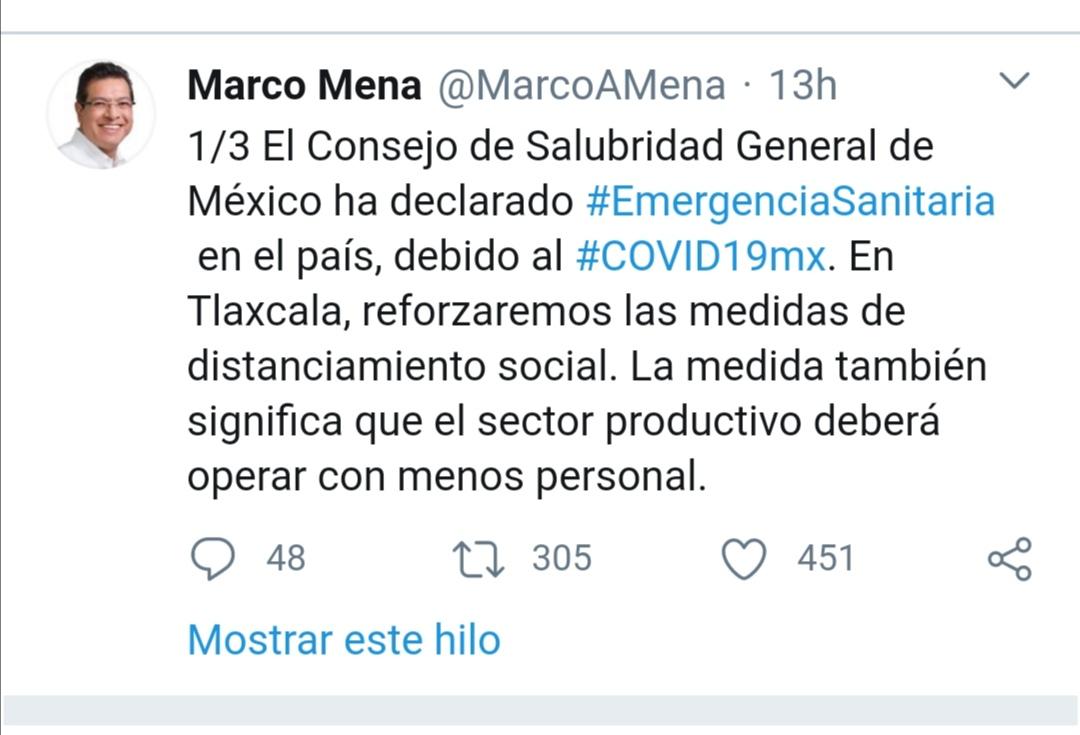 El Consejo de Salubridad General de México ha declarado #EmergenciaSanitaria en el país, debido al #COVID19mx