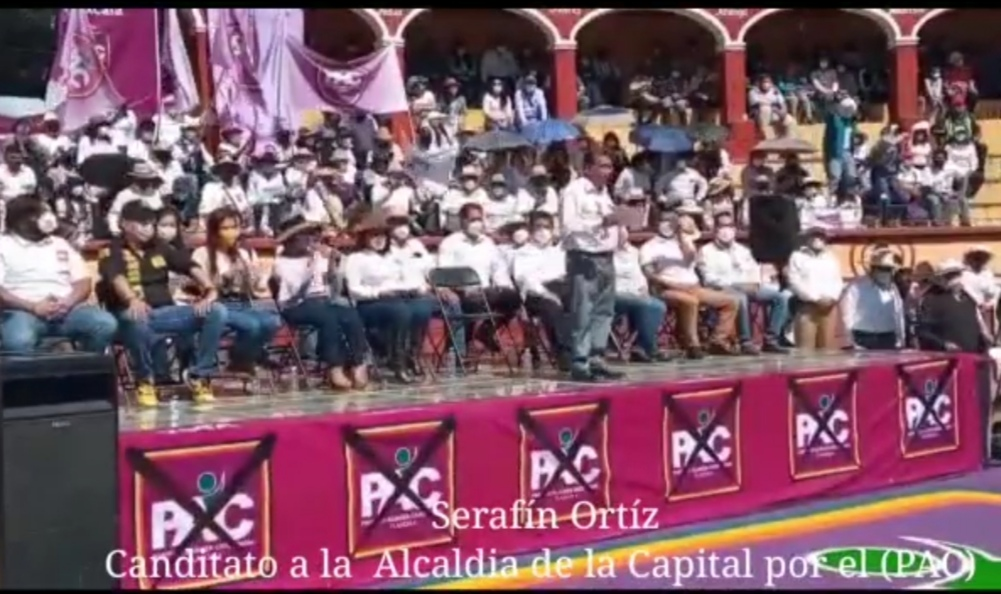 EMOTIVO CIERRE DE CAMPAÑA DE SERAFÍN ORTIZ, CANDIDATO A LA ALCALDÍA DE LA CAPITAL POR EL PAC EN LA PLAZA DE TOROS.