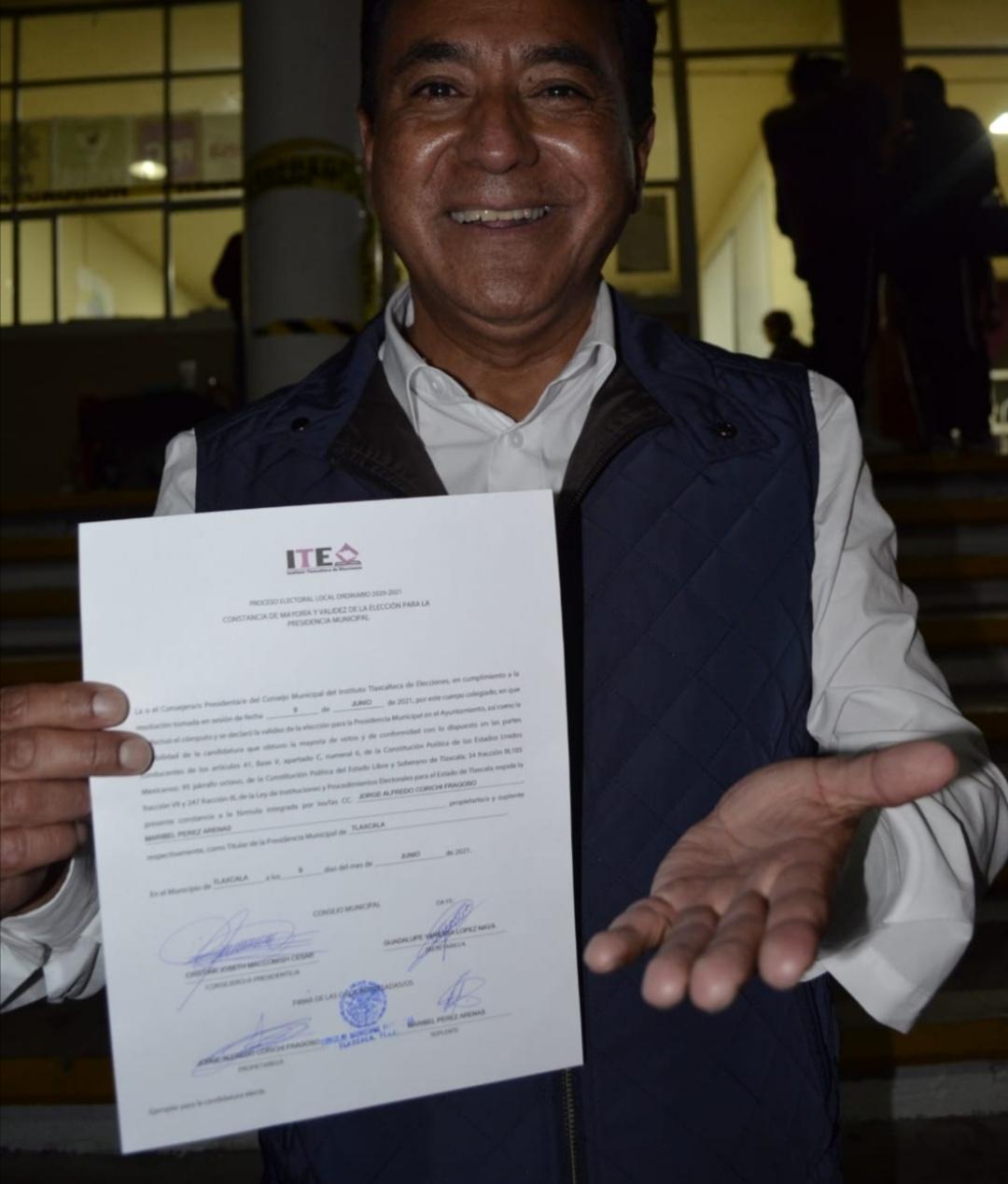 Confirma ITE resultado de la elección a favor de Morena en municipio de Tlaxcala: