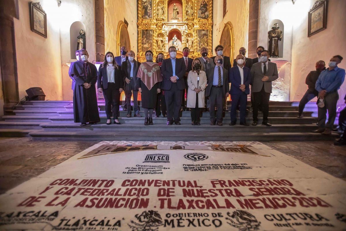 DEVELAN ALEJANDRA FRAUSTO Y MARCO MENA PLACAS ALUSIVAS AL EX CONVENTO DE SAN FRANCISCO COMO PATRIMONIO MUNDIAL