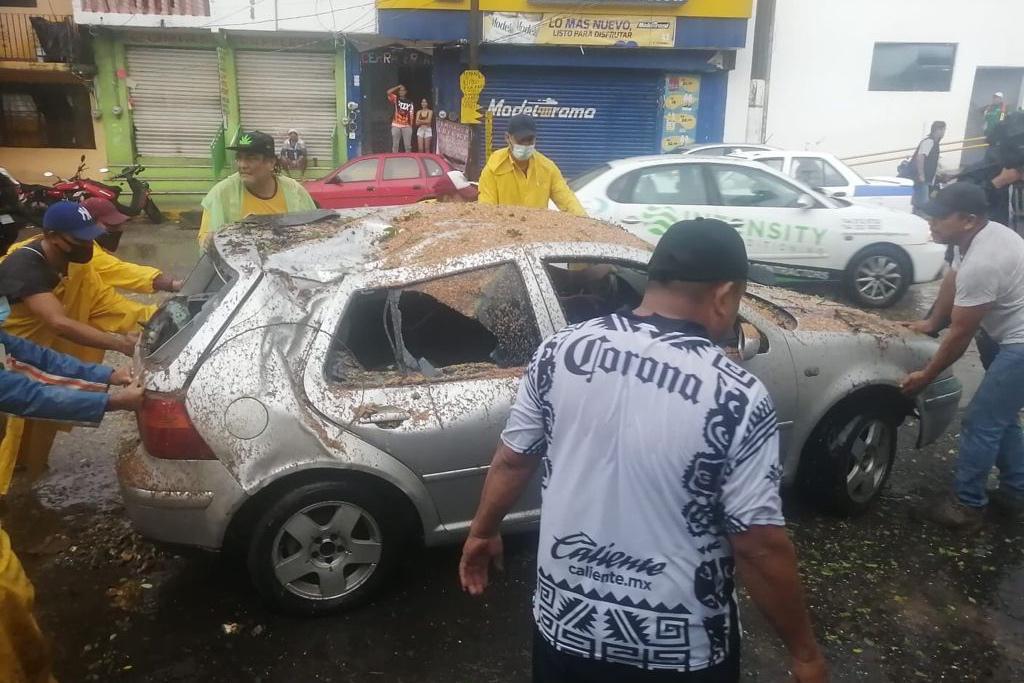 Las intensas lluviashan han dejado afectaciones en Acapulco